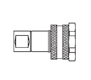 FD86-1004-16-16 Eaton FD86 Series Thread to Connect High Impulse Female Socket 1-11 1/2 Female NPT Quick Disconnect Coupling Standard Buna-N Seal - Steel