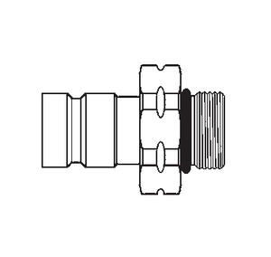 FD90-1046-06-04 Eaton FD90 Series Male Plug - M14x1.5 Male Metric O-Ring Diagnostic Valved Quick Disconnect Coupling - Steel