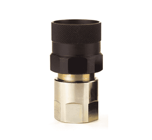 "FD96-1001-08-06 Eaton FD96 Series High Pressure 1/2-14 Female NPT Female Socket (3/8"" Body) Quick Disconnect Coupling - Steel"