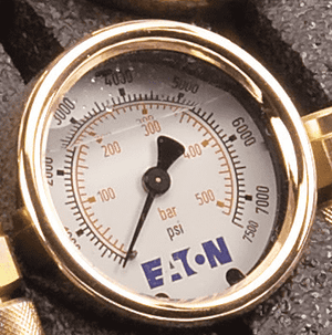 FF14801 Eaton Gauge - 1/4 Male NPT - Rating: 0 - 7,500 psi