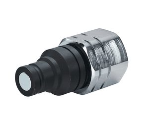 10FFPCUP37 Eaton FFCUP Series ISO 16028 Connect Under Pressure Flat Face Male Plug 3/8-18 Female NPT NBR+AU Quick Disconnect Coupling Steel