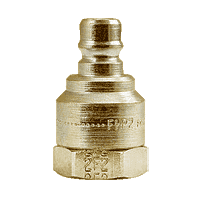 "FHP2F2B ZSi-Foster Quick Disconnect FH Series Two Way Valved Plug 1/4"" FPT - Brass"