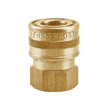 "BLFHS3B ZSi-Foster Quick Disconnect FH Series Straight-Thru Socket 3/8"" FPT - Ball Lock, Brass"