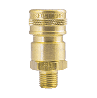 "BLFHS3M3B ZSi-Foster Quick Disconnect FH Series Two Way Valved Socket 3/8"" MPT - Ball Lock, Brass"