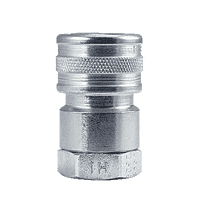 "BLFIS2F2 ZSi-Foster Quick Disconnect FIH Series One Way Valved Socket 1/4"" FPT - Ball Lock, Steel"