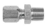 "FLC2404-06-08 Dixon Steel Flareless Bite Fitting - 3/8"" Male Tube OD x 1/2"" Male NPTF Adapter"