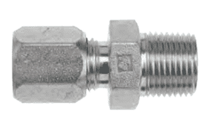 "FLC2404-08-06 Dixon Steel Flareless Bite Fitting - 1/2"" Male Tube OD x 3/8"" Male NPTF Adapter"