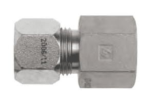 "FLC2405-06-04 Dixon Steel Flareless Bite Fitting - 3/8"" Male Tube OD x 1/4"" Female NPTF Adapter"