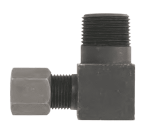 "FLC2501-06-04 Dixon Steel Flareless Bite Fitting - 3/8"" Male Tube OD x 1/4"" Male NPTF Adapter 90 deg. Elbow"