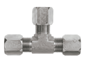 "FLC2603-04 Dixon Steel Flareless Bite Fitting - Male Tube Union Tee - 1/4"" Tube OD"