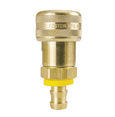 "FM1815 ZSi-Foster Quick Disconnect 1-Way Automatic Socket - 1/2"" ID - Brass - Push-On Hose Stem"