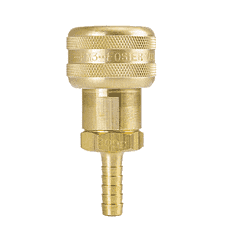 "FM3703 ZSi-Foster Quick Disconnect 1-Way Automatic Socket - 3/8"" ID - Brass - Hose Stem"
