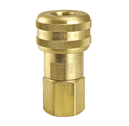 "SL4015 ZSi-Foster Quick Disconnect 1-Way Automatic Socket - 1/4"" FPT - Sleeve Lock, Brass"