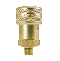 "SL4905 ZSi-Foster Quick Disconnect 1-Way Automatic Socket - 1/4"" MPT - Sleeve Lock, Brass"