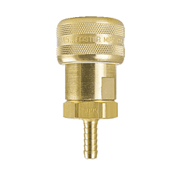 "FM5605 ZSi-Foster Quick Disconnect 1-Way Automatic Socket - 1/4"" ID - Brass - Hose Stem"