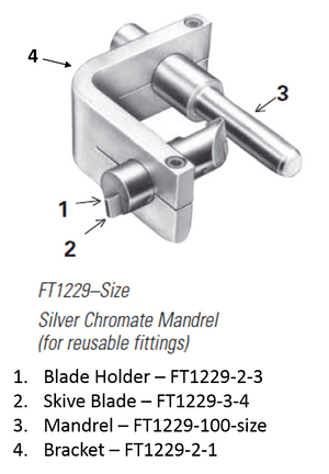FT1229-10 Eaton Aeroquip Silver Chromate Mandrel External Skiving Tool (for Reusable Fittings)