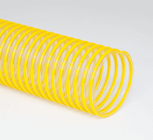 3-Flex-Tube-PU-12 Flexaust Flex-Tube PU 3 inch Dust and Material Handling Duct Hose - 12ft