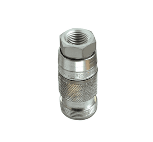 23204005 Eaton Full-Bore Series Female Socket - 1/2 Body Size - 3/4-14 Female NPTF End Connection Pneumatic Quick Disconnect Coupling - Steel