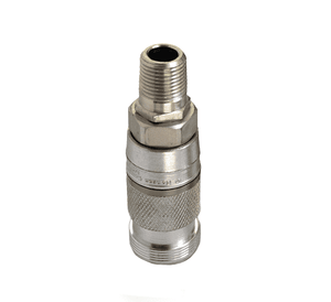 23203014 Eaton Full-Bore Series Female Socket - 3/8 Body Size - 1/2-14 Male NPTF End Connection Pneumatic Quick Disconnect Coupling - Steel