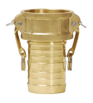 "G400-C-BRCR Dixon 4"" ASTMC 3800 Forged Brass King Crimp Style Global Type C Female Coupler x Hose Shank"