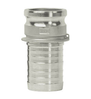 "G400-E-SSCR Dixon 4"" 316 Investment Cast Stainless King Crimp Style Global Type E Male Adapter x Hose Shank"