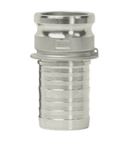 "G100-E-SSCR Dixon 1"" 316 Investment Cast Stainless King Crimp Style Global Type E Male Adapter x Hose Shank"