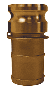 "G500-E-BR Dixon 5"" ASTMC38000 Forged Brass Global Type E Adapter"
