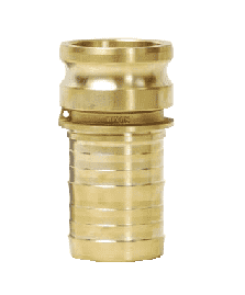 "G100-E-BRCR Dixon 1"" ASTMC 3800 Forged Brass King Crimp Style Global Type E Male Adapter x Hose Shank"