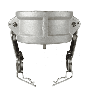 "G150-DC-ALSI Dixon 1-1/2"" A380 Permanent Mold Aluminum Global Type DC Dust Cap (with Stainless Steel Handles)"