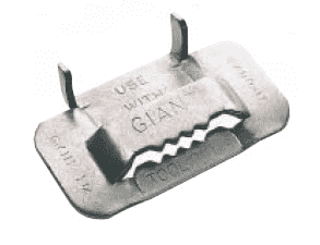 "G44299 Band-It Giant Buckles, 201SS 1-1/4"" use with G43299 or G46299 band - 25 Pieces/Box"