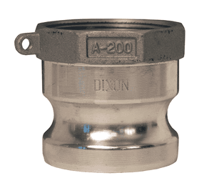 "G250-A-AL 2-1/2"" A380 Permanent Mold Aluminum Dixon Global Type A Adapter"