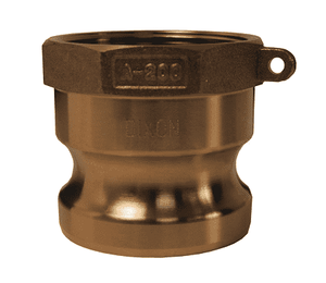 "G250-A-BR 2-1/2"" ASTMC38000 Forged Brass Dixon Global Type A Adapter"