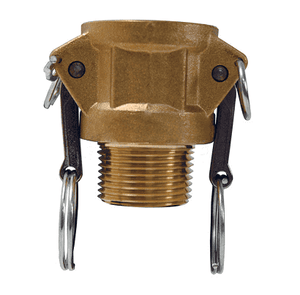 "G400-B-BR Dixon 4"" ASTMC38000 Forged Brass Global Type B Coupler"