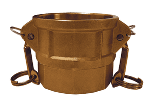 "G500-D-BR Dixon 5"" ASTMC38000 Forged Brass Global Type D Coupler"