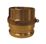 "G50-F-BR Dixon 1/2"" ASTMC38000 Forged Brass Global Type F Adapter"