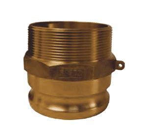 "G500-F-BR Dixon 5"" ASTMC38000 Forged Brass Global Type F Adapter"