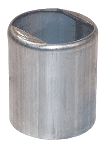 "GAS2885NO Dixon 2"" 304 Stainless Steel Notched Ferrule for Hose OD from 2-42/64"" to 2-54/64"""