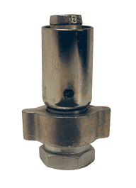 "GF81P2 Dixon 2"" Plated Iron/Steel Boss Holedall Fitting for Hose OD Range from 2-41/64"" to 2-48/64"""