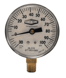 "GL315 Dixon Compound Gauge - 2-1/2"" Face, 1/4"" Lower Mount - 0-200 PSI"
