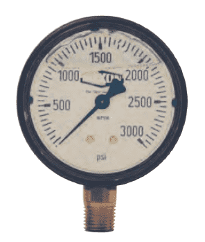 "GLP545 Dixon Liquid Filled ABS Case Gauge - 2-1/2"" Face, 1/4"" Lower Mount - 0-2000 PSI"