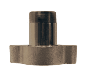 "GMAS21 Dixon 1-1/2"" Plated Iron/Steel Boss Adapter - Male NPT"
