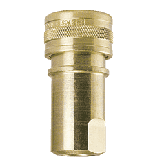 "H6B-104 ZSi-Foster Quick Disconnect FHK Series 3/4"" Two Way Shut Off 3/4"" Socket - Brass, w/Silicone Seal"