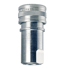 "H2S-104 ZSi-Foster Quick Disconnect FHK Series 1/4"" Two Way Shut Off 1/4"" Socket - Steel w/Silicone Seal"