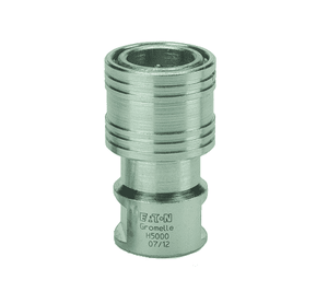 HA0503100 Eaton H5000 Series Female Socket, Female 1/2-14 BSPP Pull to Connect Double Shut-Off NBR Quick Disconnect Coupling Steel