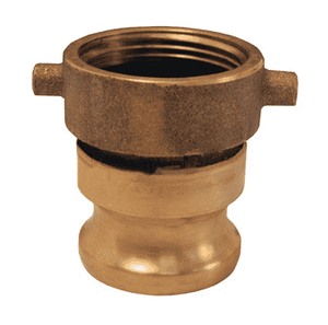 "HA2525ADP Dixon Brass Hydrant Adapter - 2-1/2"" Female NST Thread x 2-1/2"" Male Adapter"