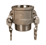 "HAB150EZ Dixon 1-1/2"" Hastelloy Type B Coupler - Female Coupler x Male NPT"