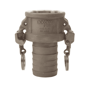 "HAC150EZ Dixon 1-1/2"" Hastelloy Type C Coupler - Female Coupler x Hose Shank"