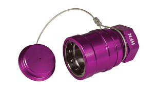 "HFN-P4 Dixon 1"" Anodized Aluminum Flomax High Flow 1"" Female NPT Series Nozzle with Plug - Violet"