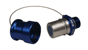 "HFR-C5 Dixon 1"" Anodized Aluminum Flomax High Flow 1"" Male NPT Series Receiver with Cap - Navy"