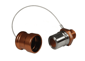 "HFR-C6 Dixon 1"" Anodized Aluminum Flomax High Flow 1"" Male NPT Series Receiver with Cap - Copper-Colored"
